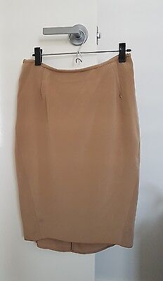 Country Road Silk Business Skirt In Size 8 (New)