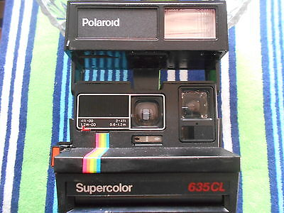 POLAROID SuperColor  635 CL LAND Instant Film,   Retro Rainbow stripe 600 FILM