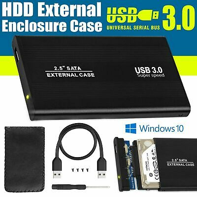 SATA External HDD 2.5 inch USB 3.0 Hard Drive Enclosure Disk Drive Case Caddy UK