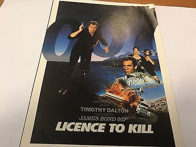 James Bond 007 Licence To Kill & Die Another Day Promo Cards Rare 8 X 6 Inch