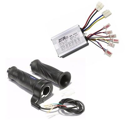 36V 800W Brush Controller + Throttle Grip For Electric Scooter Bike ATV Go Kart