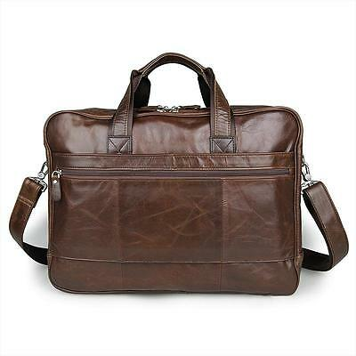 """Men's Genuine Leather Briefcase-Laptopbags-Business bags-Commuter bags-17""""laptop"""