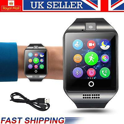 2018 NEW Bluetooth Touch Screen Smart Watch Q18 For Android mobiles & iPhone UK