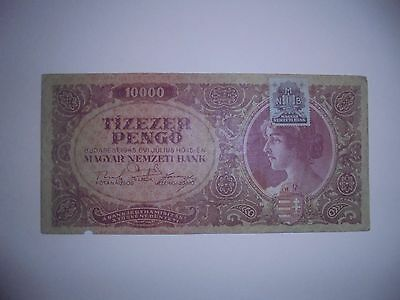 Banknote From Hungary1945 10,000 Pengo
