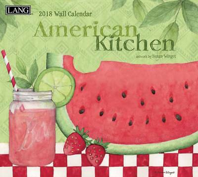 2018 Lang Calendar AMERICAN KITCHEN New Wall Calender Fits Wall Frame FREE PO...