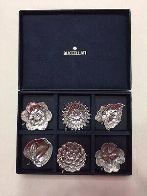 Buccellati Sterling Silver Set Of Six Place Card Holders