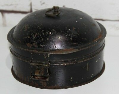19C Antique Painted Toleware Tin Spice Box - FREE Shipping [PL3692]