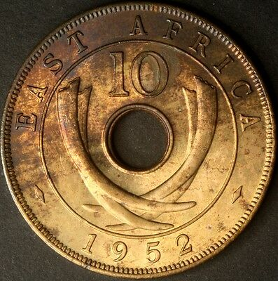 East Africa 1952 10 Cents Unc