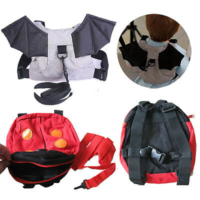 Bat Wing Ladybug Design Baby Kid Toddler Safety Strap Bag Harnesses Backpack