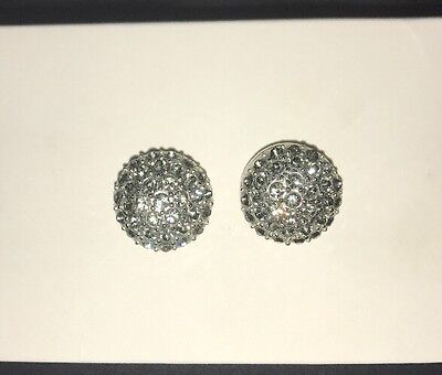 Women's MIMCO Earrings - Silver Crystal Done Stud