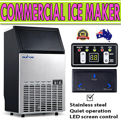 Stainless Steel Commercial Ice Maker Machine 60kg per 24 hour