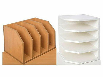 Rapid 2 Way Paper Holder SDH2 318 x 318 x 450, Beech / White, Fast delivery