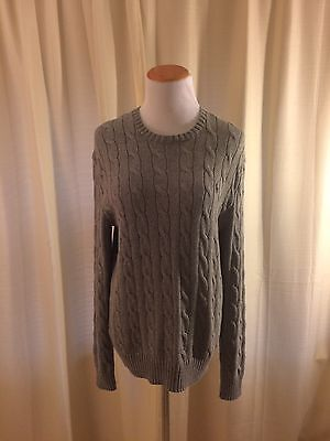 NWT! Ralph Lauren Polo Men's Fawn Grey Sweater Classic Cable Knit XS