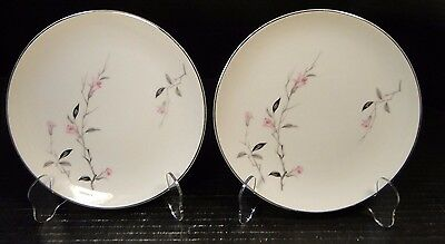"TWO Fine China of Japan Cherry Blossom Salad Plate 7 1/2"" (Set of 2) Excellent"