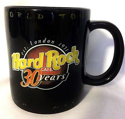 Hard Rock Cafe Coffee Mug Collector's 30 Year World Tour Large Drinking Cup