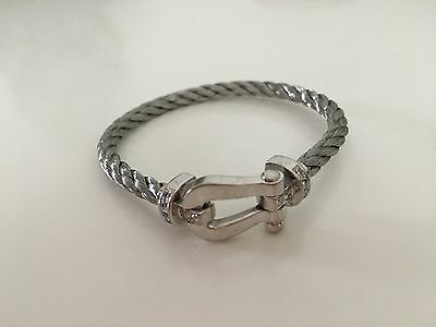 Bracelet Fred Force 10 Manille Or gris diamant