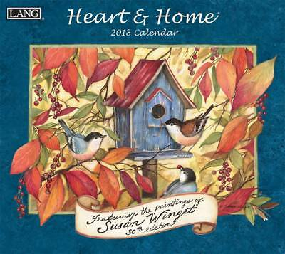 2018 Lang Calendar HEART AND HOME New Wall Calender Fits Frame by Susan Wingett