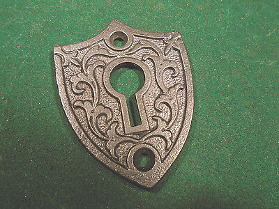 "HUGE CAST STEEL EASTLAKE KEY HOLE ESCUTCHEON or SURROUND 2 1/2"" (7221)"