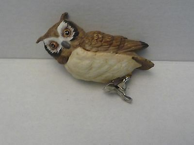 Vintage Lefton Clip On Owl Ornament