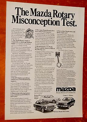 1976 Mazda Cosmo Miter Rotary Rx-4 Canadian Ad - Retro 1970S Japanese Vintage