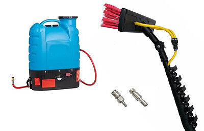 Shop Front Window Cleaning System - 4 Ft Water Fed Pole & Backpack - Complete