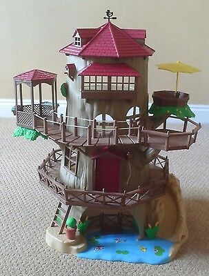 sylvanian families old oak hollow tree house 163 26 00