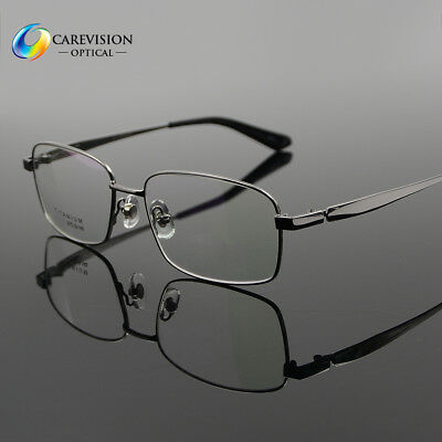 New Pure Titanium Spectacles Men Full Rim Optical Eyeglass Frame Eyewear Rx Able