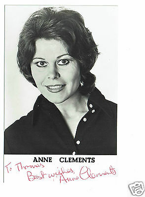 Anne Clements Actress Upstairs Downstairs Hand Signed Photograph 5 X 3