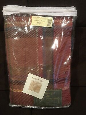 Longaberger 2006 Hostess Toboso Plaid Woven Fabric Throw Blanket - NEW