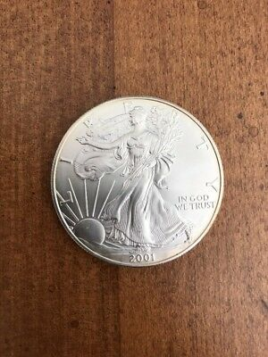 2001 American Silver Eagle Dollar Uncirculated!!