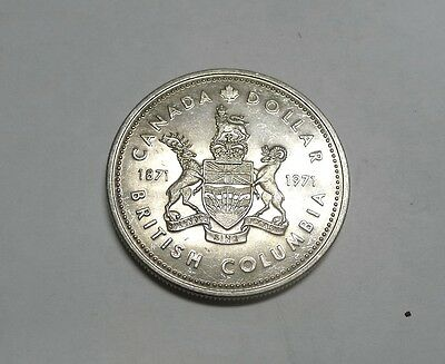 1971 British Columbia Silver Dollar CANADA!  See Photos!