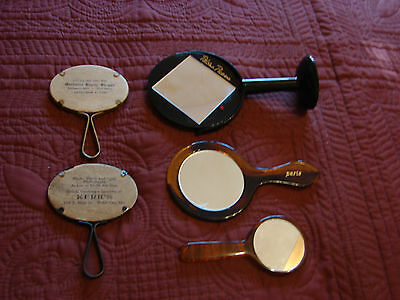 5 Vintage ADVERTISING Mirrors- Paloma Picasso & 4 others