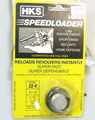 HKS 22-K SpeedLoader for S&W K Frame 17 18 COLT Diamondback Dan Wesson .22
