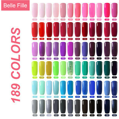 BELLE FILLE  Nail Art Gel Polish Candy Colors Soak-off UV Manicure DIY Varnish