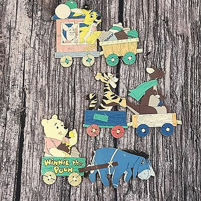 Winnie The Pooh Train Wall Decor Set 3' Long Nursery Toddler Room
