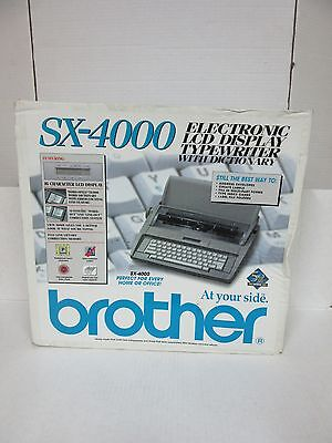 Brand New Brother Sx-4000 Electronic Typewriter Lcd Display With Dictionary