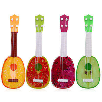 Fruit Shaped Ukulele Acoustic Guitar Kids Playing Funny Toy Musical Instruments