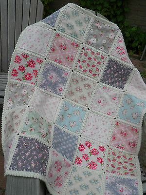 Fusion Quilt, Baby blanket, Baby throw, 35 X 41 inches, Handmade