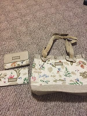 longaberger Purse And Wallet And Checkbook