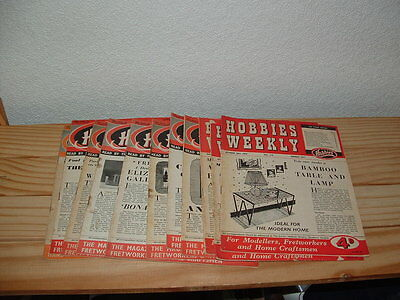 HOBBIES WEEKLY  11 issues from the 50's