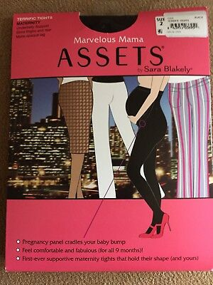 Marvelous Mama by Sara Blakely-Maternity Terrific Tights Size 2 Black