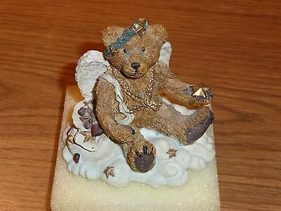 Clarence Angel Bear (Rust) Bearstone Collection 1993 11th edition Piece #2521