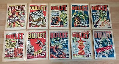 Bullet comics bundle #60, #61, #62, #63, #64, #65, #66, #67, #68, #69
