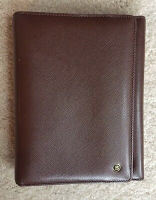 Vintage BALLY Brown Leather 6 Ring Planner Organizer. Made in Italy, Nice!