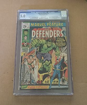 MARVEL FEATURE #1 CGC 5.0 Key 1st Appearance Of DEFENDERS. Netflix
