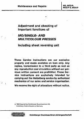 Heidelberg MO Maintenance and Repairs Manual  Service Manual (083)