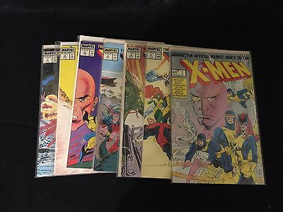 Official Marvel Index to the X-Men  #1-7 Complete Set Run 1987