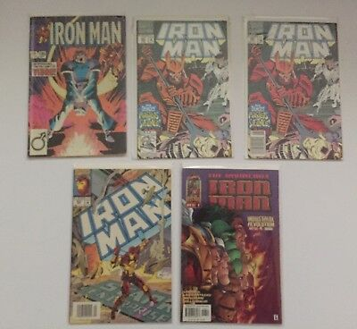 Iron Man Mini Comic Lot Vol 1 - # 186,281 X2 (War Machine Cameo) # 303,Vol2 # 6