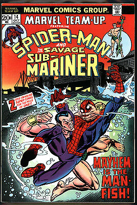 Marvel Team-Up #14 8.5 (VF+): Sub-Mariner! Classic Early Bronze Age! $20 Value!