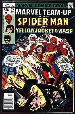 Marvel Team-Up #59 9.0 (VF/NM): Yellowjacket! Classic Bronze Age! $25 Value!